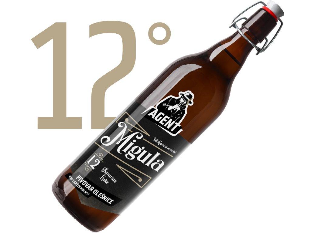 Migula polotmavý ležák Premium 12° 1L - Velikonoční speciál