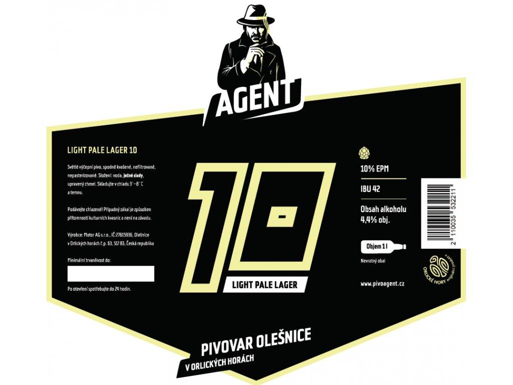 Etiketa Světlé výčepní pivo 10°
