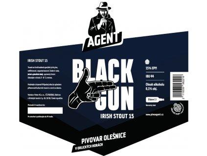Etiketa Black Gun Irish Stout 15°