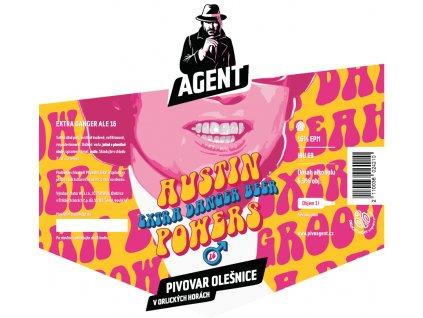Etiketa Austin Powers Golden IPA 16°